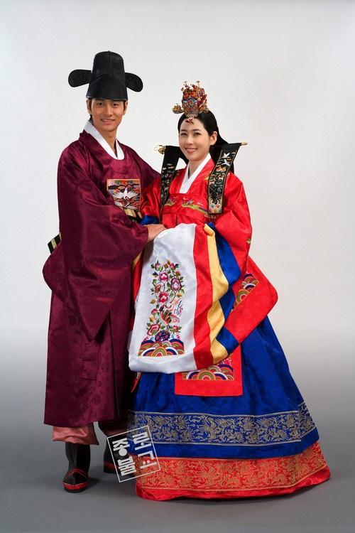 Korean Hwarot wedding attire