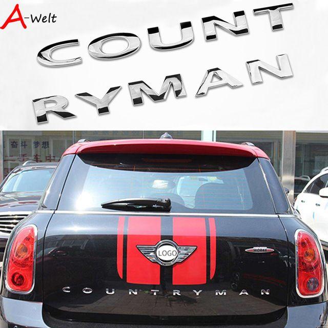 3dmetal Stickers Rear For Bmw Mini Cooper Accessories Mini Cooper R56 R60 Mini Countryman F60 R60 Emble Mini Cooper Accessories Mini Cooper R56 Mini Countryman