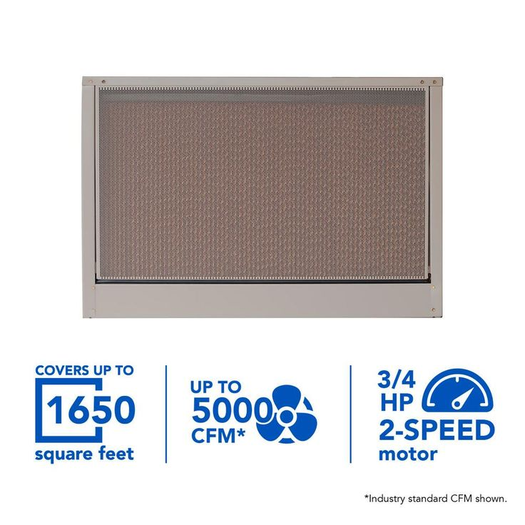 5000 CFM 240-Volt 2-Speed Down-Draft Roof 8 in. Media Evaporative Cooler for 1650 sq. ft. (with Motor), Cool Sand