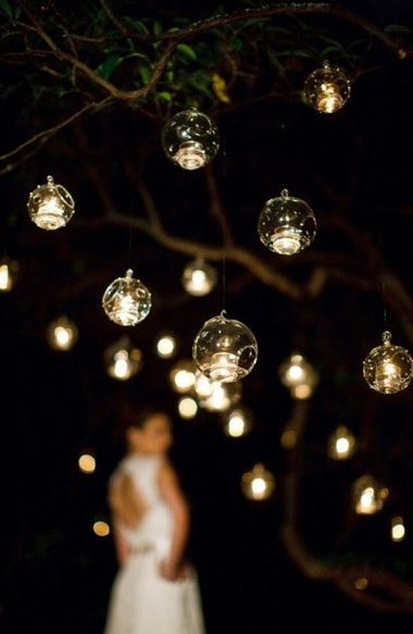 Hanging candle globes