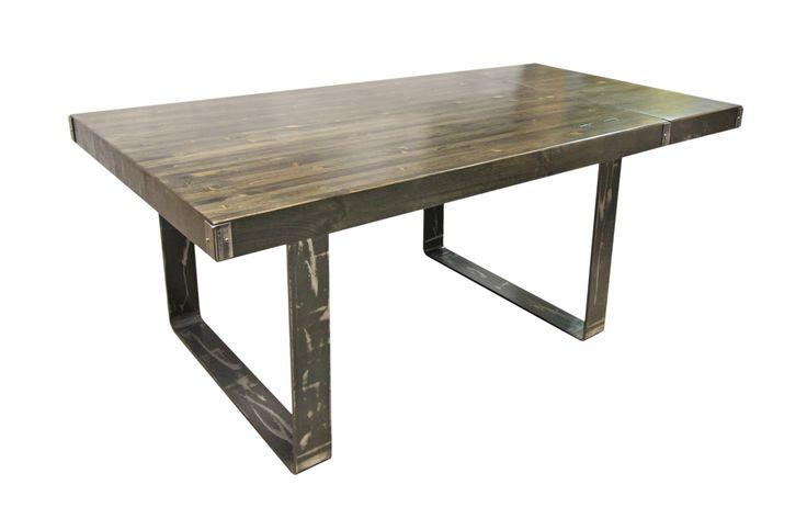 17 meilleures id es propos de d ner industrielle sur for Table industrielle avec rallonge