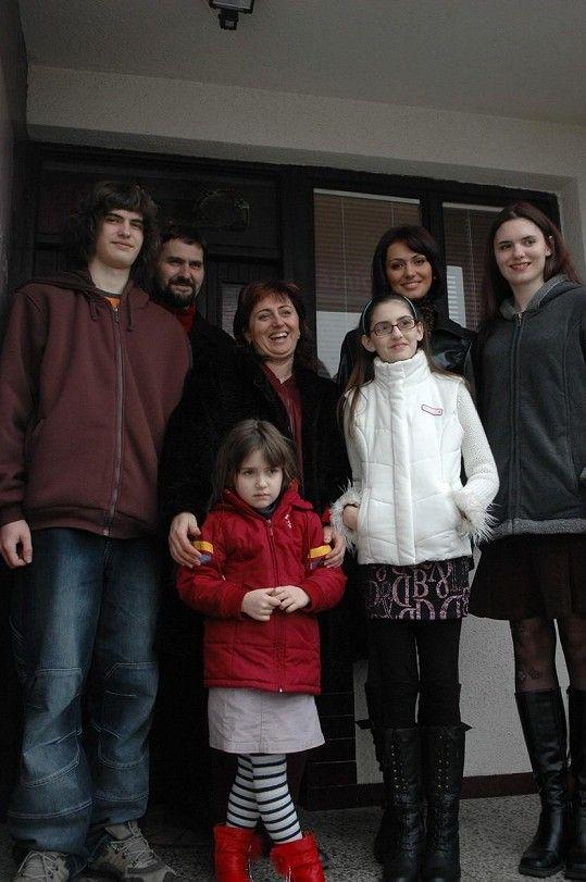 Eliška Bučková s rodinou na archivním snímku