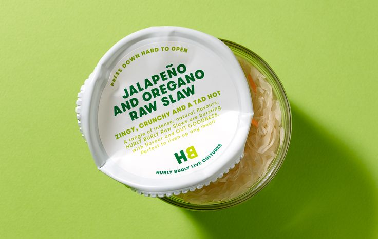 Hurly Burly / Design / Packaging / Jar / Label / Lid / Bold / Typography / Fermentation / Turbulent / Logo