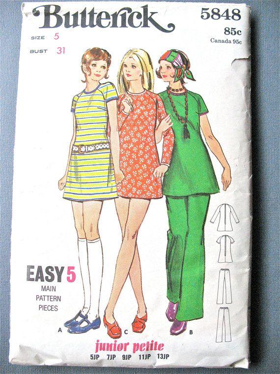 Butterick 5848 Junior Petite A-line Mini Dress and by Fancywork