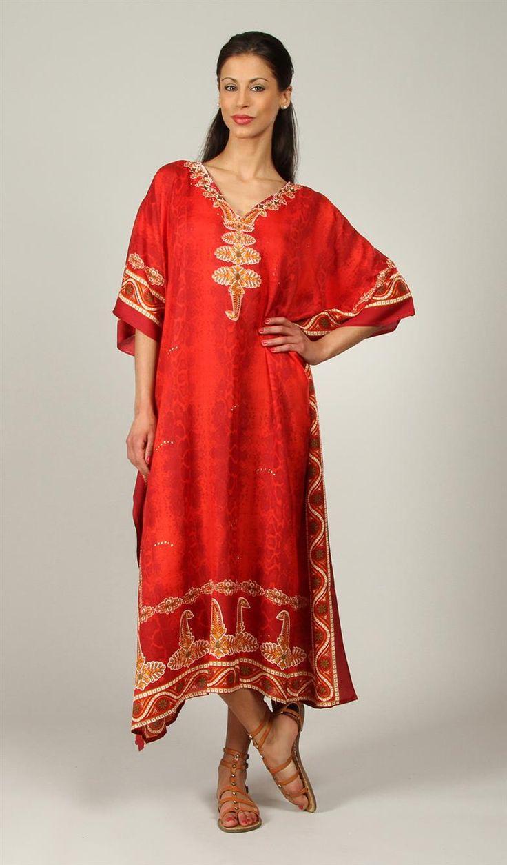 Tunique style kaftan dresses