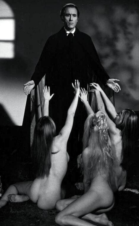 ✖ Christopher Lee as Dracula.