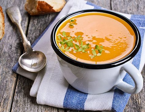 Sopa de auyama con leche de coco, curry y jengibre - Recetas