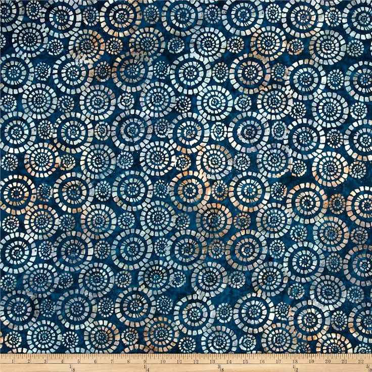 Wilmington Batiks Parasols Navy/Multi from @fabricdotcom  Designed for Wilmington Prints, this Indonesian batik fabric is perfect for quilting, apparel and home decor accents. Colors include shades of teal with brown accents.