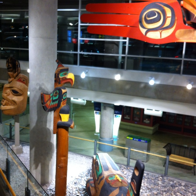 Aboriginal artwork in YVR