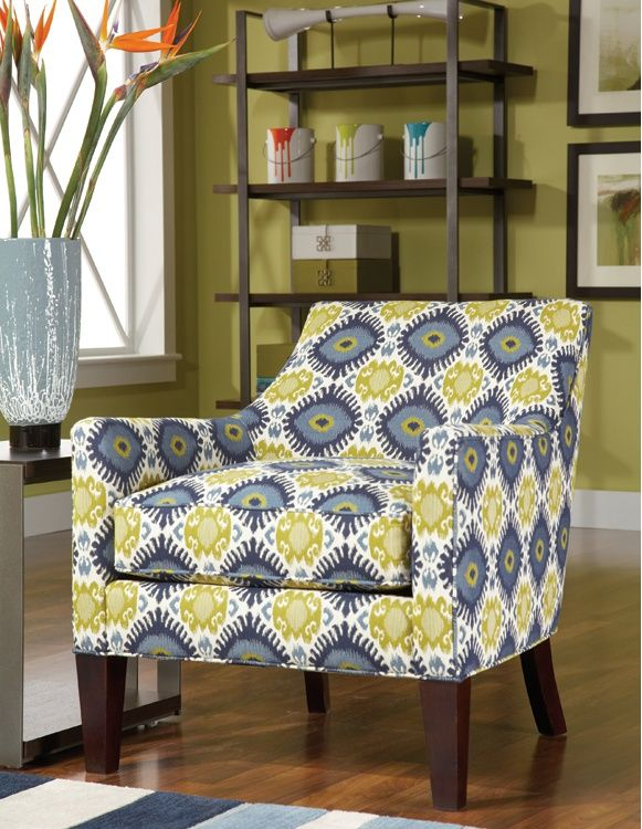 The Alisa Chair Comes In A Lively Pattern To Brighten Any Room. Rent An  Accent Chair From CORT For Your Living Room, Today.