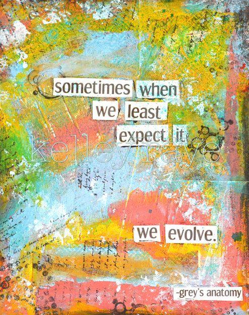 11 x 14 Art Print Grey's Anatomy Quote on Etsy, $10.00