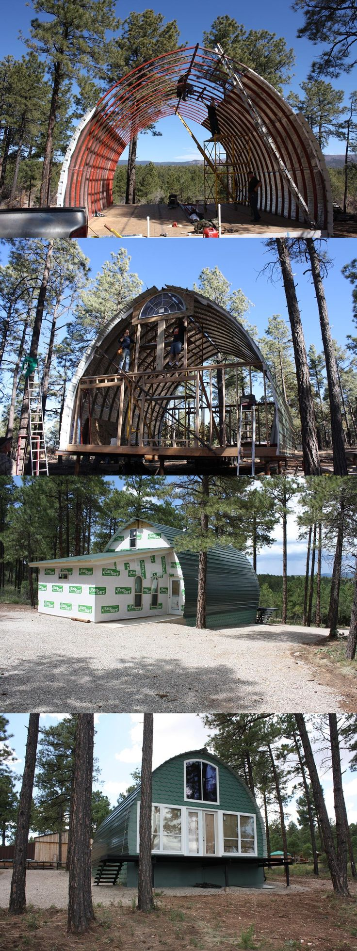 70 Best Arched Cabins Images On Pinterest Quonset Hut