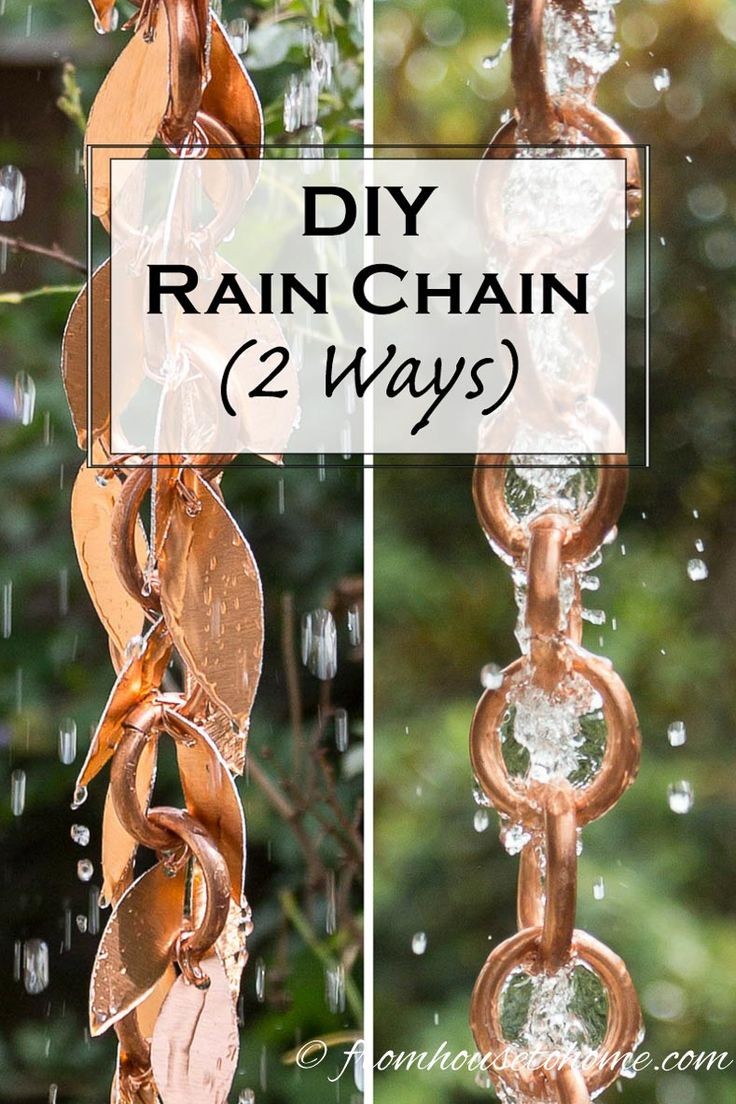 DIY Rain Chain (2 ways) | Want to make your own rain chain but not sure how? Click here to find step-by-step instructions for a DIY Rain Chain, with 2 different style options.