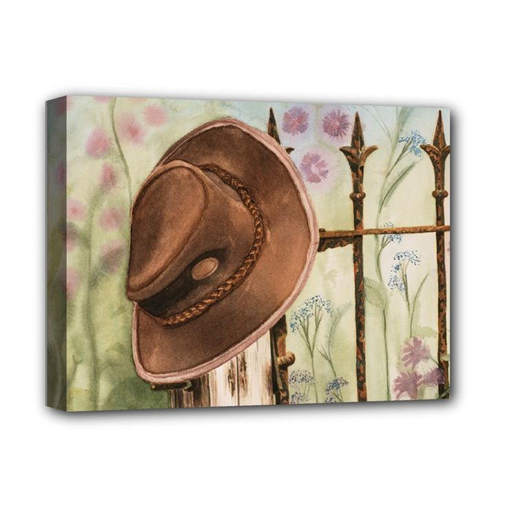 "Hat+On+The+Fence+Deluxe+Canvas+16""+x+12""+(Framed)++Deluxe+Canvas+16""+x+12""+(Stretched)+"
