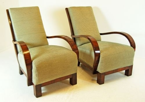 Art deco arm chairs - finally!!! a chair style hubby likes!