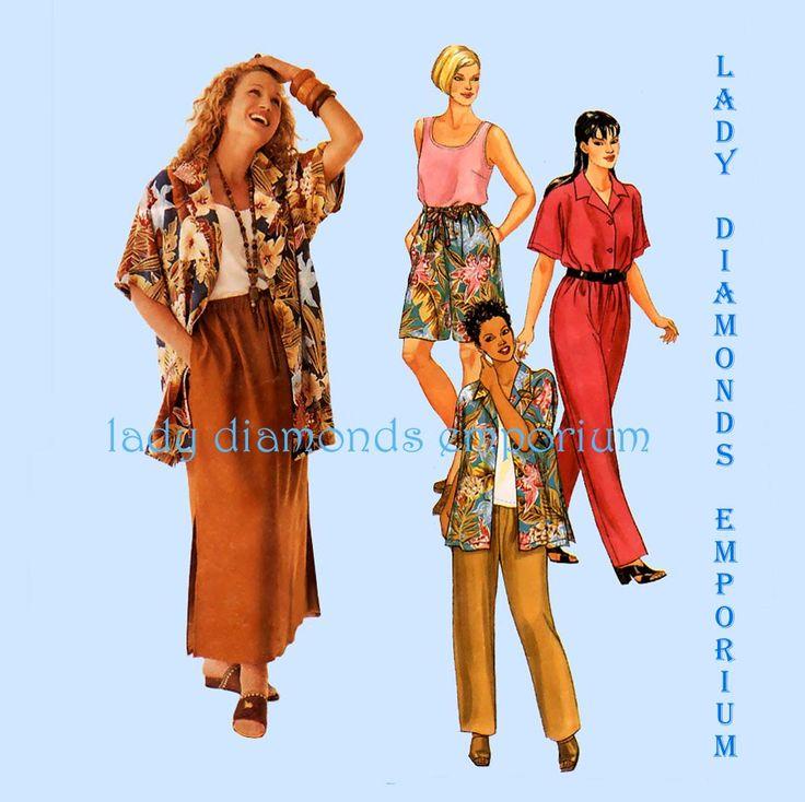McCalls 2211 Easy Shirt Tank Top Maxi Skirt Pants Shorts Plus Size 18W 20W 22W Woman Style Sportswear Resortwear Sewing Pattern Uncut FF by ladydiamond46 on Etsy