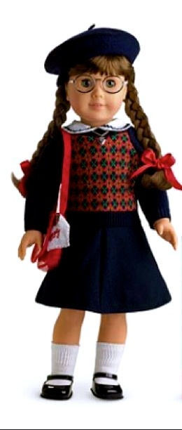Molly McIntire was one of the first three Historical Characters of the American Girl Dolls, representing the World War II Era. Molly was released in 1986