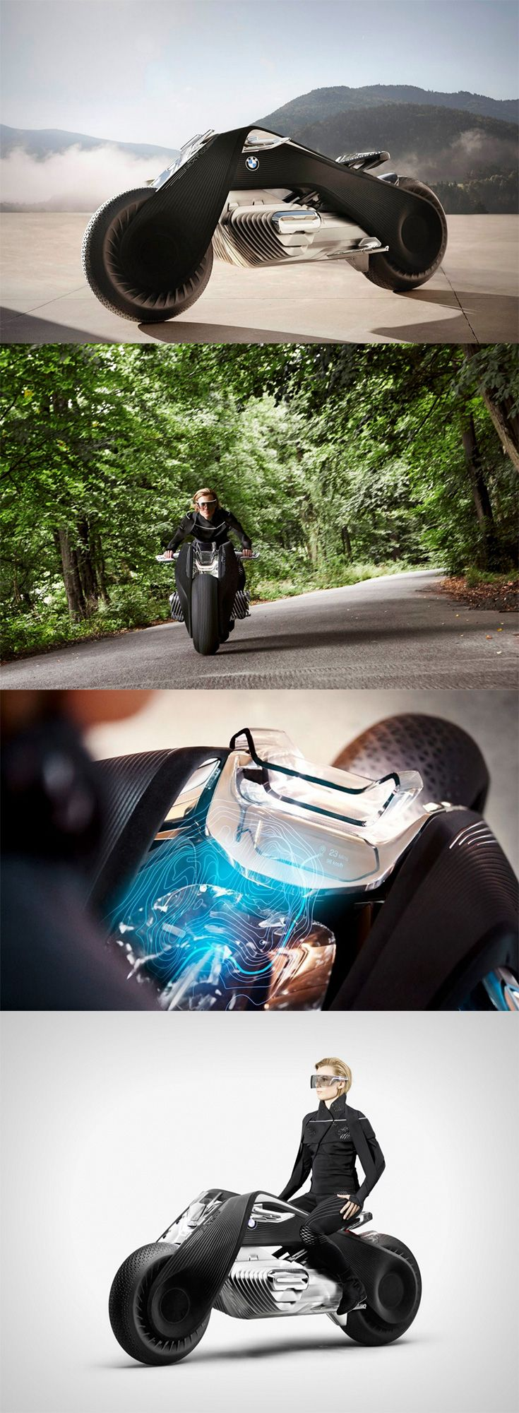 382 best bikes images on pinterest custom motorcycles custom bmw comes up with its vision 100 motorbike concept thats smart enough to change the motorbike fandeluxe Images