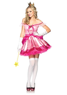 Womens Sexy Princess Peach Costume-Gonna be Princess Peach for family themed Halloween this year!(More like Queen peach! LOL)