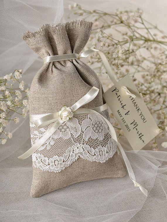 Custom listing 20 Wedding Rustic Favor Bag by forlovepolkadots
