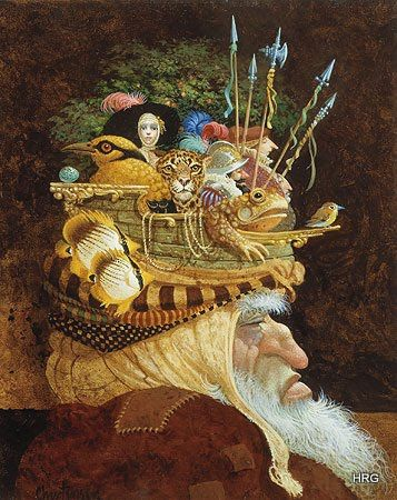 Old Man with a Lot on His Mind by James Christensen