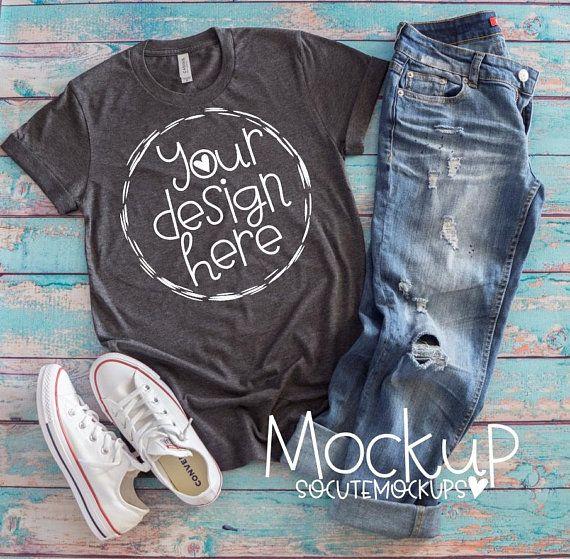 Download T Shirt Mockup Gray Bella Canvas T Shirt Mockup Ladies T Shirt Mock Up Ladies Gray T Shirt Mockup Free Psd Free Psd Mockups Templates Free Packaging Mockup
