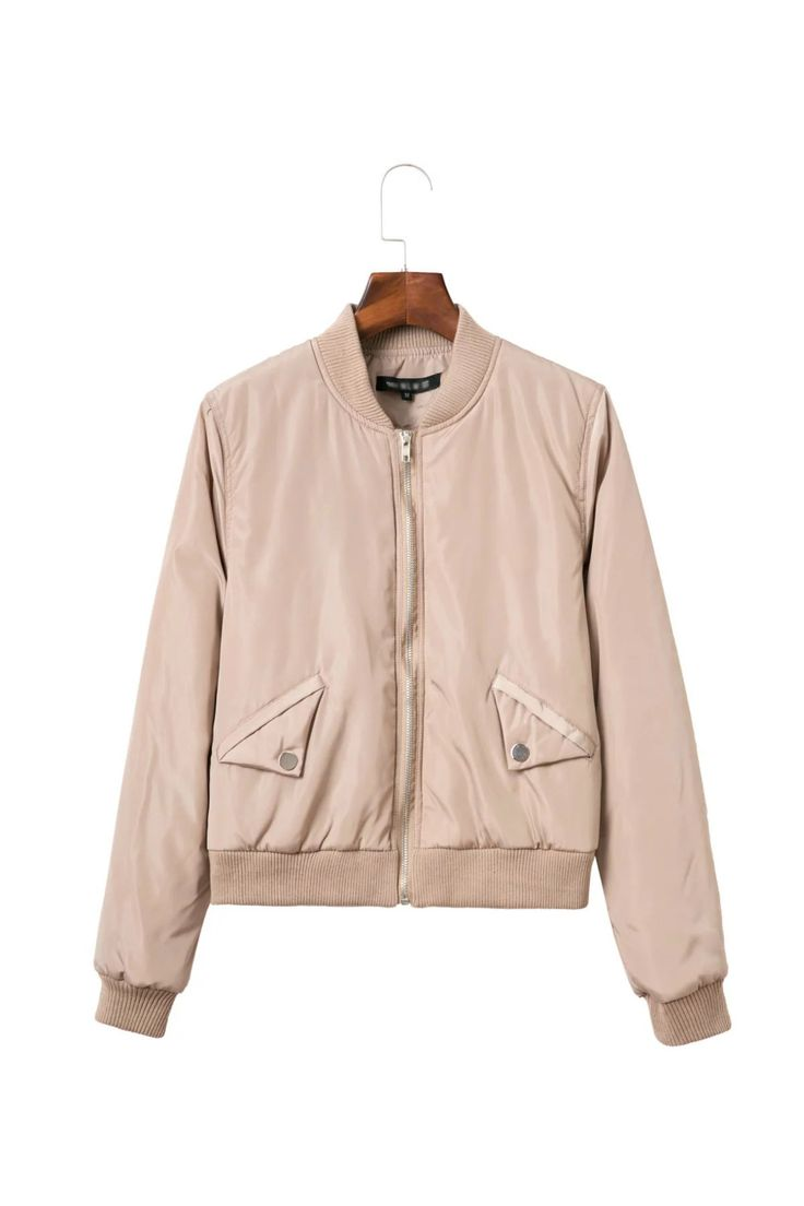 Casual Autumn Winter Thin cotton Solid color Bomber Jacket Women Aviator Jacket Baseball Jackets Mujer women Coat 3 color