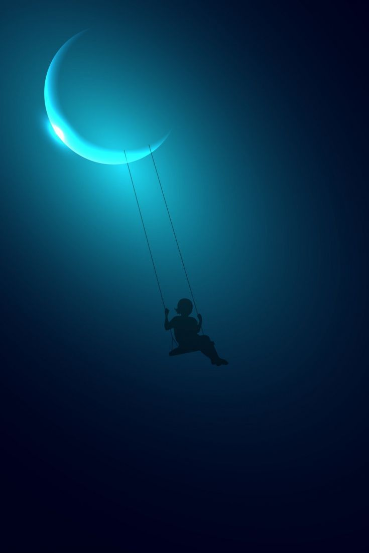 Little Girl Swinging On Moon Nebula Wallpaper Kindle Fire Hd Free Wallpaper Backgrounds