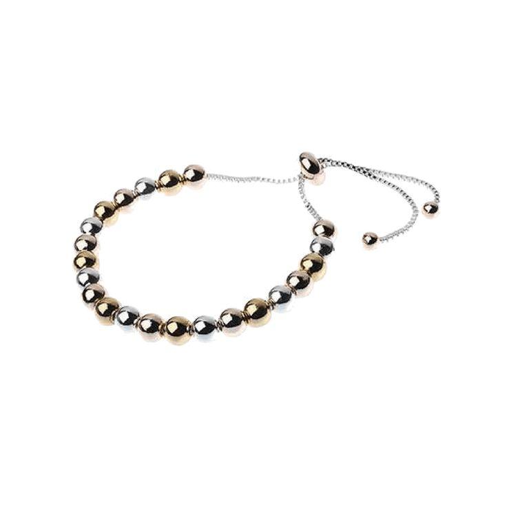 Jeminee Jewellery London Hina Mixed metal Bead Bracelet | #Style #Fashion #OOTD