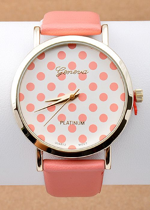 Dotted Lady Watch Available in Pink, Mint, & Black!