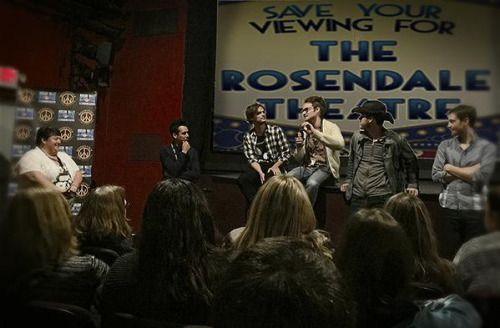 "Rosendale Theatre ‏@rosendalefilm ""Band of Robbers"" filmmakers Q&A this afternoon. http://www.bandofrobbers.com wff2015 posted 18 hours ago (© twitter.com) 27 notes #band of robbers #adam nee #aaron nee #matthew gray gubler #woodstock film festival"