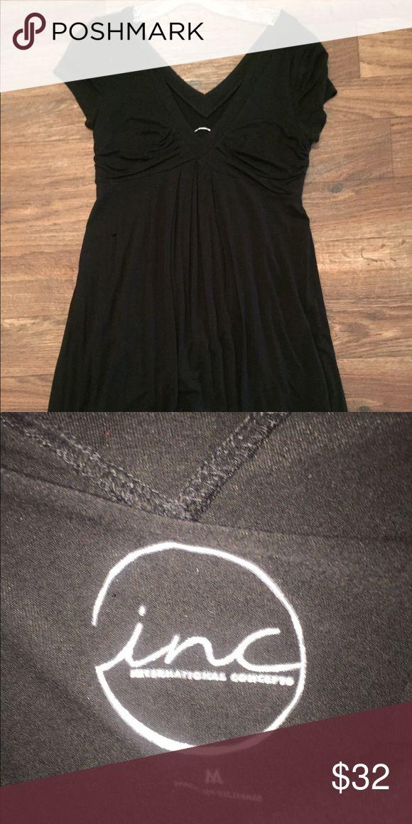 INC International Concepts Black dress **Black, soft, comfortable dress! Only worn three times! INC International Concepts Dresses