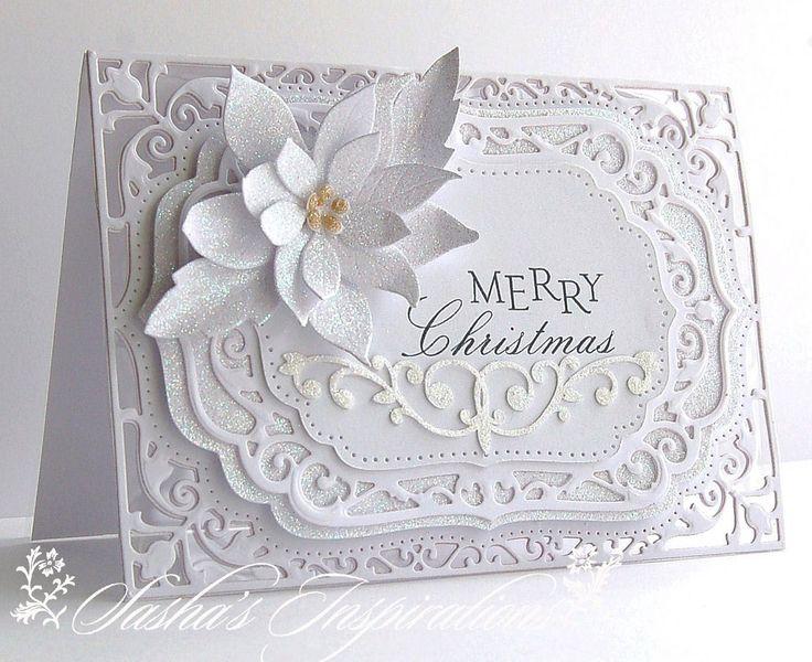 Sasha's Inspirations: White On White Christmas Sparkle