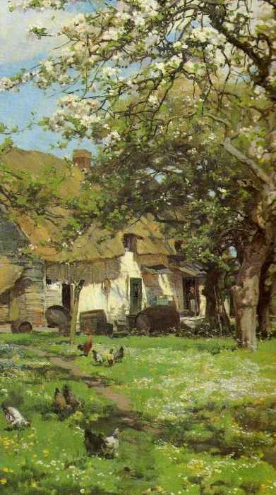 Alfred Parsons - Spring in the Orchard