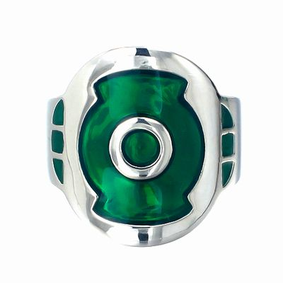 Green Lantern Inspired Ring First Flight Silver Ring Jewelry