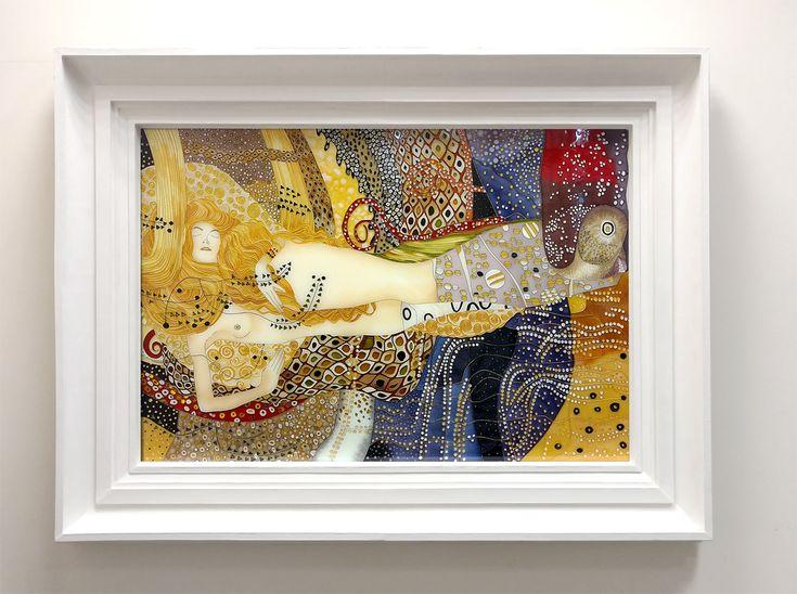 """Wystrój wnętrz- witraż """"Węże wodne I"""" Gustava Klimta"""