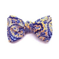 Cotton Bow Tie - Blue & Yellow (39YlwBlu)
