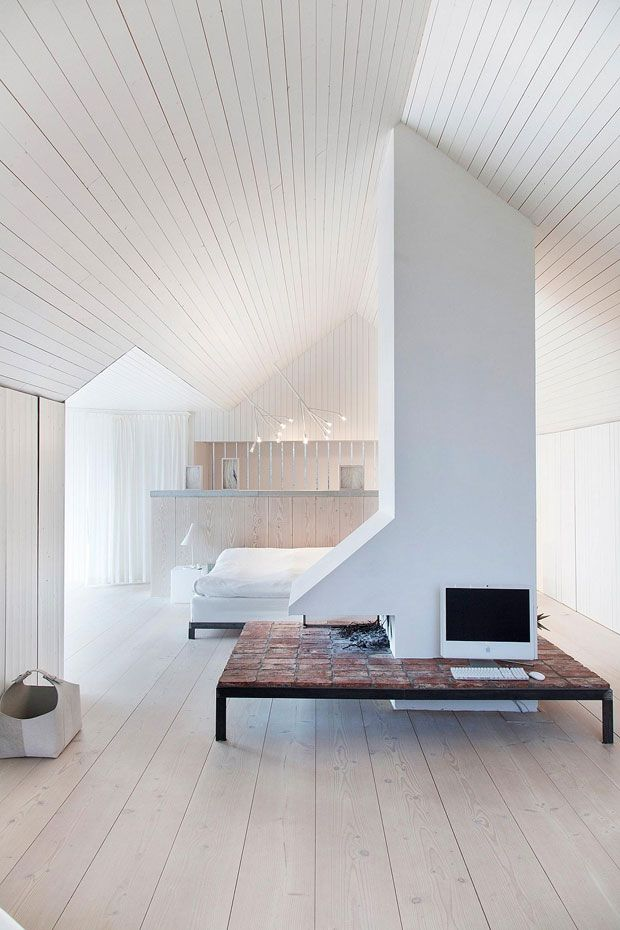 A seventeenth century Farmhouse remodeled by architecture studio of Gert Wingårdh becomes a shinning example of contemporary architecture. Minimalism might be dominant yet its taken to the side with original wood paneling giving an inviting appeal to the living space.