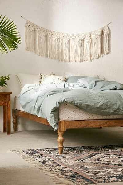 Bohemian Platform Bed At Urban Outers Today Maybe No Headboard Is The Way To Go