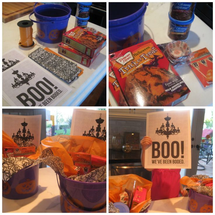 Boo'ing your neighbors. How to make a Boo Bucket. #halloween
