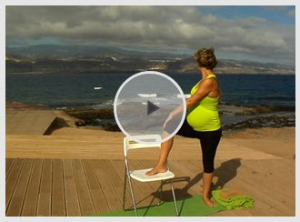 Week 32 of Pregnancy ~ We take care of our lower backs by practicing a collection of gentle exercises. #bestpregnancyyogadvd  #bestprenatalworkoutdvd #pregnancyworkoutdvd