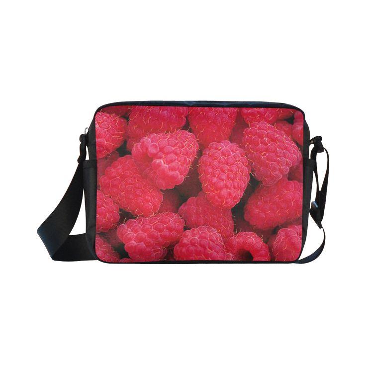 Raspberries Classic Cross-body Nylon Bag. FREE Shipping. #artsadd #bags #fruits