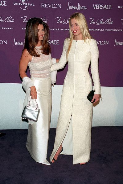 Maria Shriver Schwarzenegger & Carolyn Bessette Kennedy at the Fire  & Ice Ball, December 1998