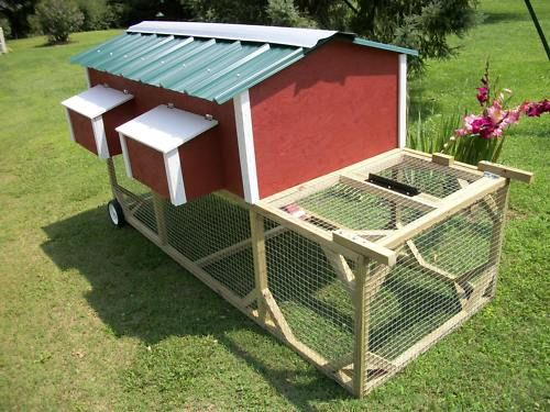 8ft portable chicken tractor 3x6 house new for Portable hen house