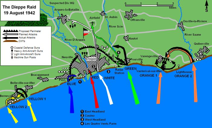 Plan invasif de Dieppe 1942