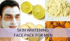 Best Homemade Skin Whitening Face Pack for Men, these lightening face packs have natural skin lightening to get the fairer complexion naturally for men skin #SkinLighteningMen