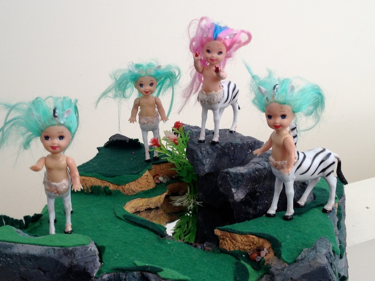 The Zebra Girls.  Uprising - diorama by Merryl Key 2013