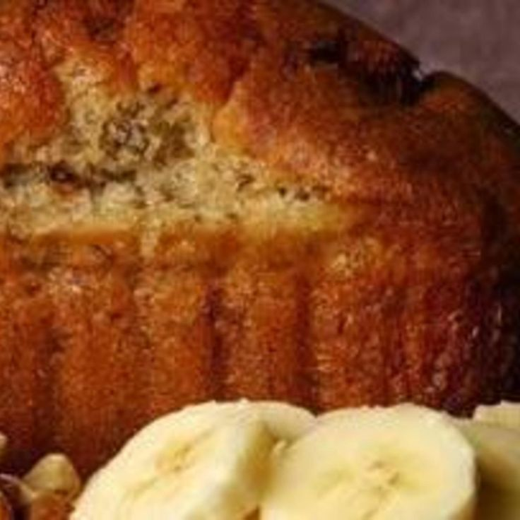 Banana Bread with honey and applesauce.... 3/8 cup honey and 1 cup applesauce instead and make into muffins.