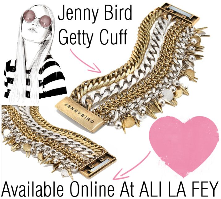 This Jenny Bird Getty Cuff is stunning! Jenny Bird jewellery is high quality jewellery this cuff is 14k Gold and Sterling Silver with an incredibly strong magnetic closure.   Available online now at ALI LA FEY http://ow.ly/THCZb   We offer FREE Shipping Australia wide on all orders.