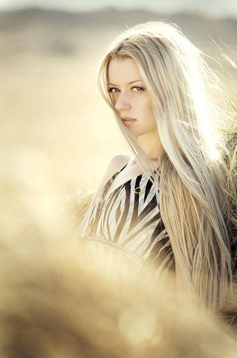 짚, 필드, 머리, 자연, 정원, 산맥, 드레스, 패션, 긴 머리, 금발의, 금발 여자, 여자
